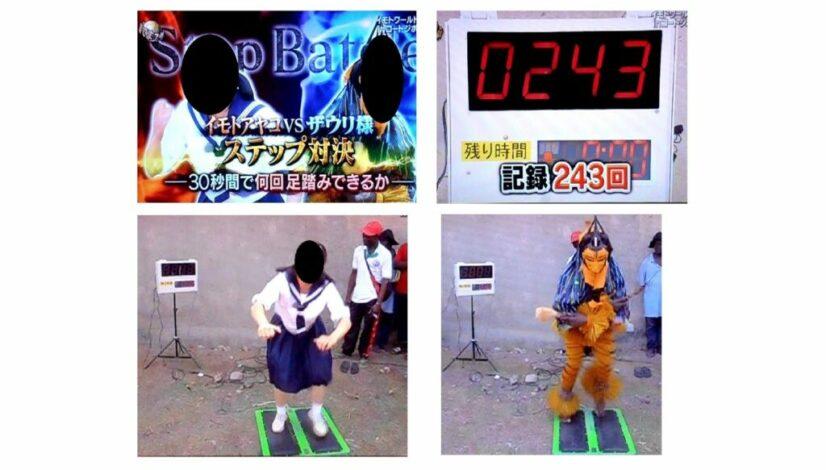 足踏みカウンター(日本テレビ様 番組 アフリカロケ)