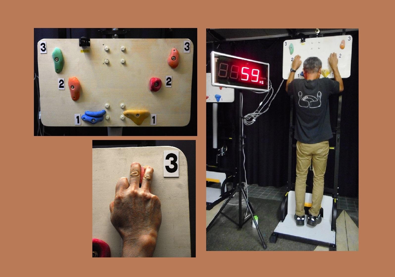 落下する心配が無く、安全にボルダリングを体感できるアトラクションです。ボルダリングに必要なフィンガーパワー(指の保持力)を測定し、大型表示器に表示されます。