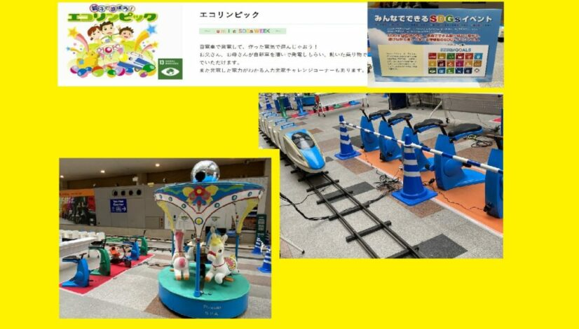 人力発電遊園地(夏休みイベント)