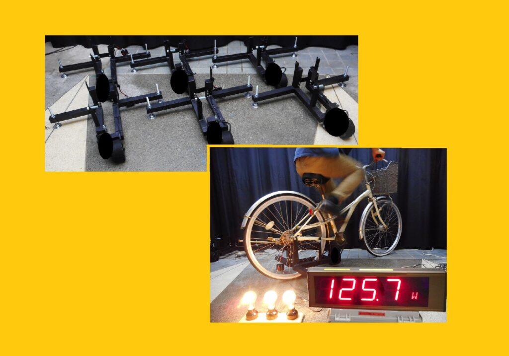 自転車発電機(20インチから27インチ用 スタンド付き 後付け 発電ユニット)