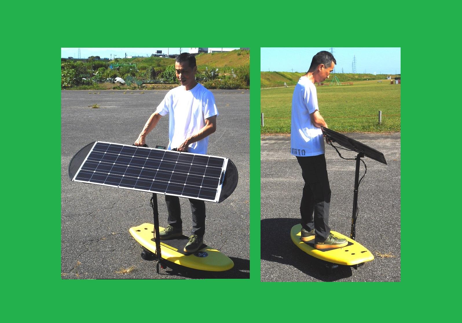 ペダルを漕いで発電した電力を蓄電せずにダイレクト給電する「人力発電ゴーカート」、「漕ぐウェイ」や人力発電機で作った電力を電気二重層キャパシタへ超急速充電して動くユニークな乗用遊具やEV(電気自動車)やHEV(ハイブリッドカー)の「回生ブレーキ」を体験できるゴーカート、立ち乗り式のユニークなソーラーカー「ソーラーサーフィン」など在庫。