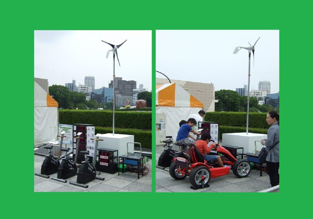 (太陽光発電 vs 風力発電 vs 人力発電)